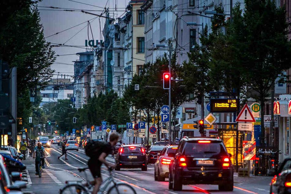 Leipziger Kriminalitätsschwerpunkt: Die Eisenbahnstraße wird von der Polizei  mit Videokameras überwacht.