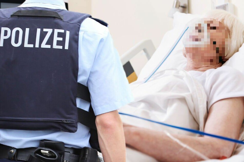 Mit schweren Verletzungen liegt das 91-jährige Opfer im Krankenhaus. (Symbolbild)