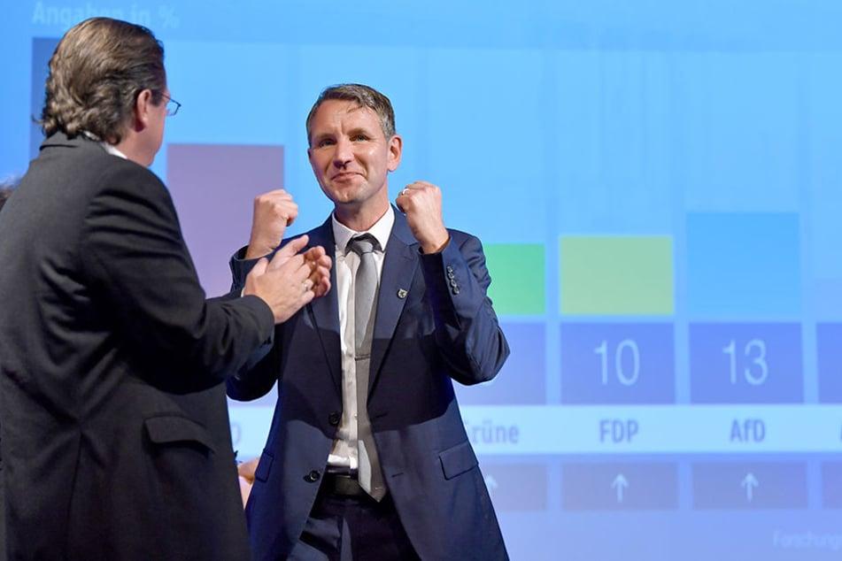 Der große Gewinner. Björn Höcke (45, AfD) wurde mit seiner Landespartei zweitstärkste Kraft in Thüringen.