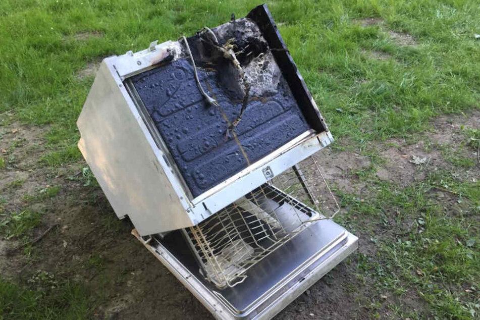 Der Übeltäter war schnell gefunden: Ein Geschirrspüler brannte.