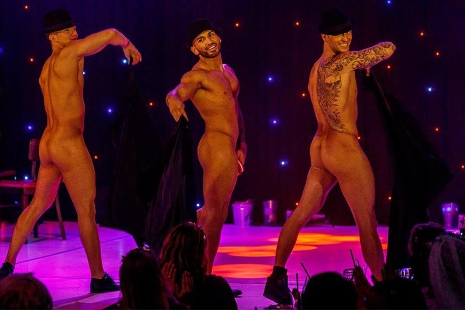 Von diesen Traumkörpern der SixxPaxx-Stripper dürften einige Dresdner Mädels noch lange träumen.