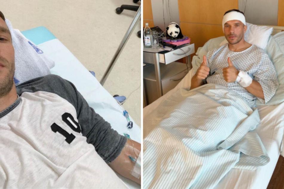 Lange Fussball-Pause droht! Poldi in Köln operiert