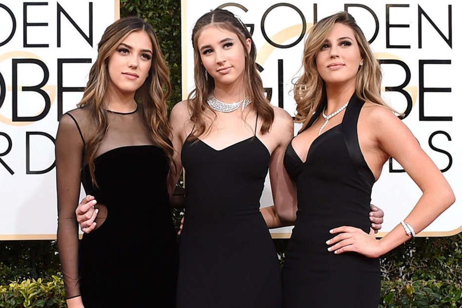 Die drei Schwestern zogen die Blicke beim Golden Globe auf sich.