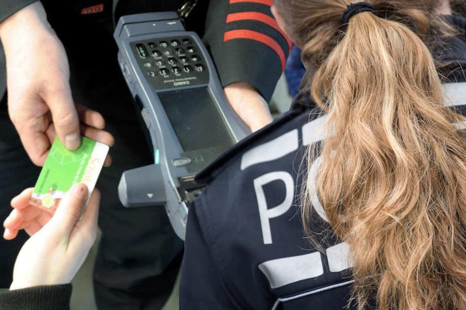 Auch eine Polizistin wurde von der Schwarzfahrerin (23) mit Tritten malträtiert. (Symbolbild)