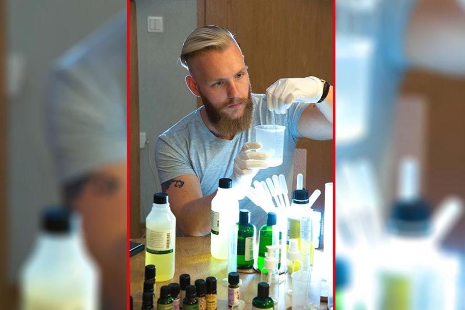 """Fabian Brust (26) kämpft am heutigen Donnerstag bei RTL mit seiner Pflegeserie """"Bartbarossa"""" um 5000 Euro."""