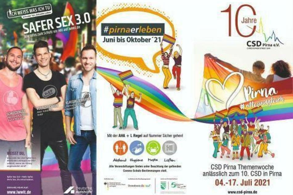 Damit der Regenbogen 2021 nicht ganz weg ist... gibt's in Pirna ab Sonntag eine CSD-Themen-Woche.