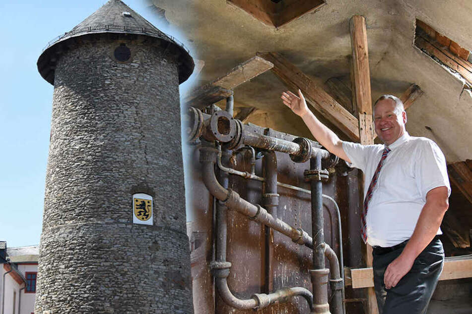 Zwei Etagen kommen drauf: Schlossturm wird saniert