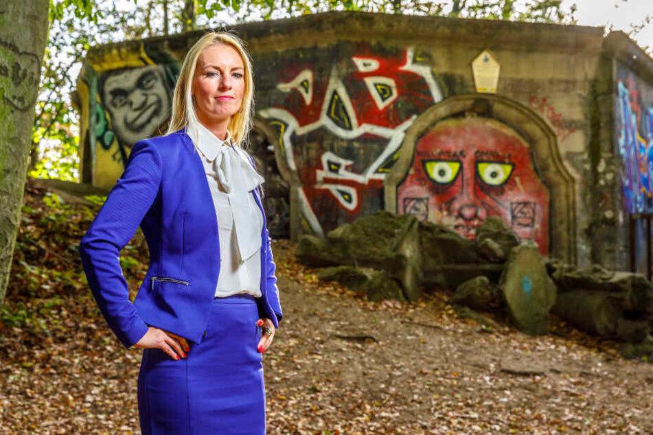 Kämpft darum, dass der Wolfshügelturm wieder Aussichtsturm wird: SPD-Stadträtin Kristin Sturm (33).