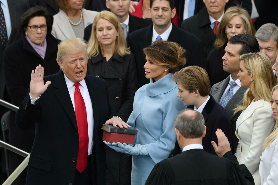 Donald Trump being sworn in as president of the United States in January 2017 (archive photo).