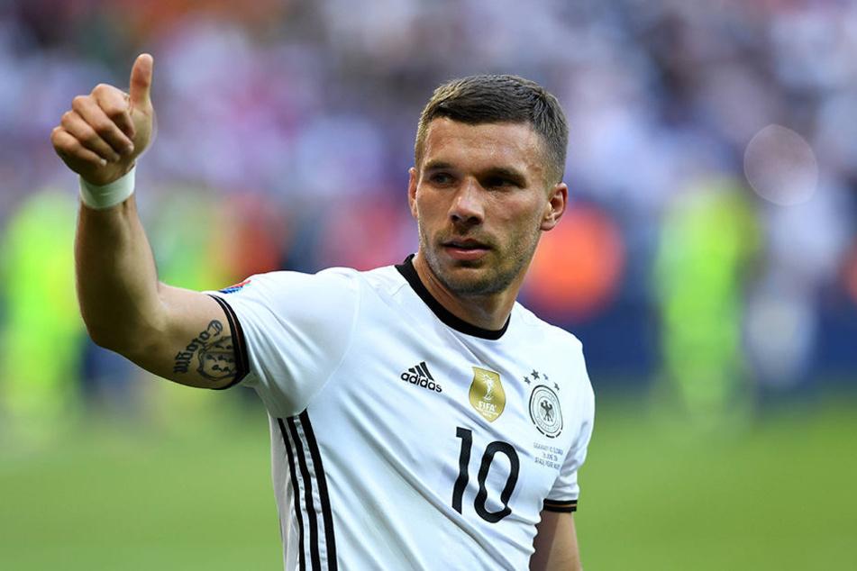 Lukas Podolski (31) ist für seine lockeren Sprüche bekannt.