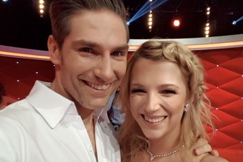"""Damit hätte sie nicht gerechnet: Iris Mareike Steen (26) und Christian Polanc (40) stehen im Viertelfinale bei """"Let's Dance""""."""