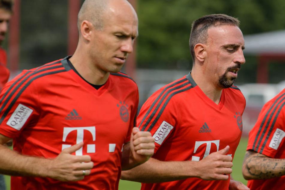 Arjen Robben (l.) und Franck Ribéry (r.) haben in der Vorbereitung alles gegeben.