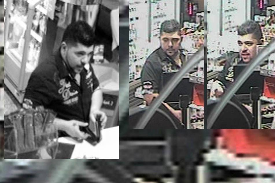 Mit diesen Bildern aus einer Überwachungskamera sucht die Polizei Köln den Täter.