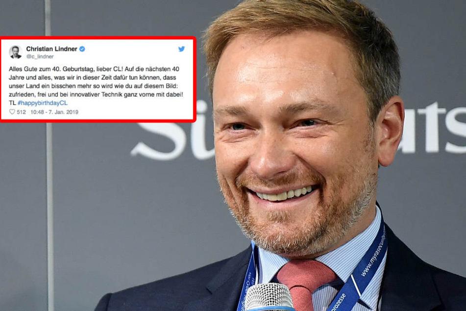 Verwirrung um Tweet: Lindner gratuliert sich selbst zum 40.