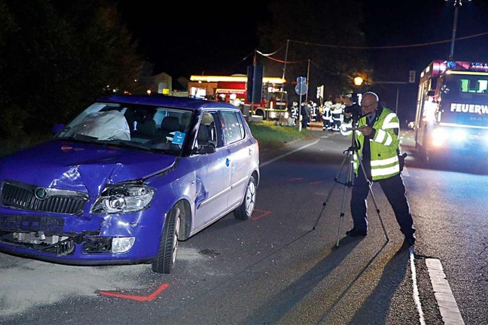 Die Skoda-Fahrerin kam schwer verletzt ins Krankenhaus.