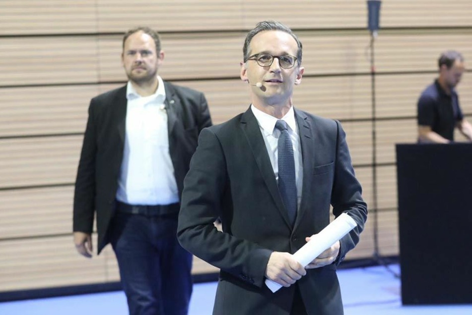 Bundesjustizminister Heiko Maas (50, SPD) auf den Weg in den Vortragssaal.