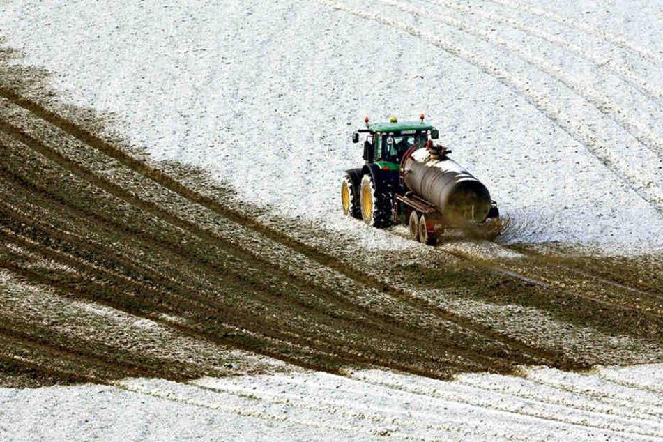 Bei gefrorenen und schneebedeckten Böden ist das Düngen untersagt, da drohen Strafen.