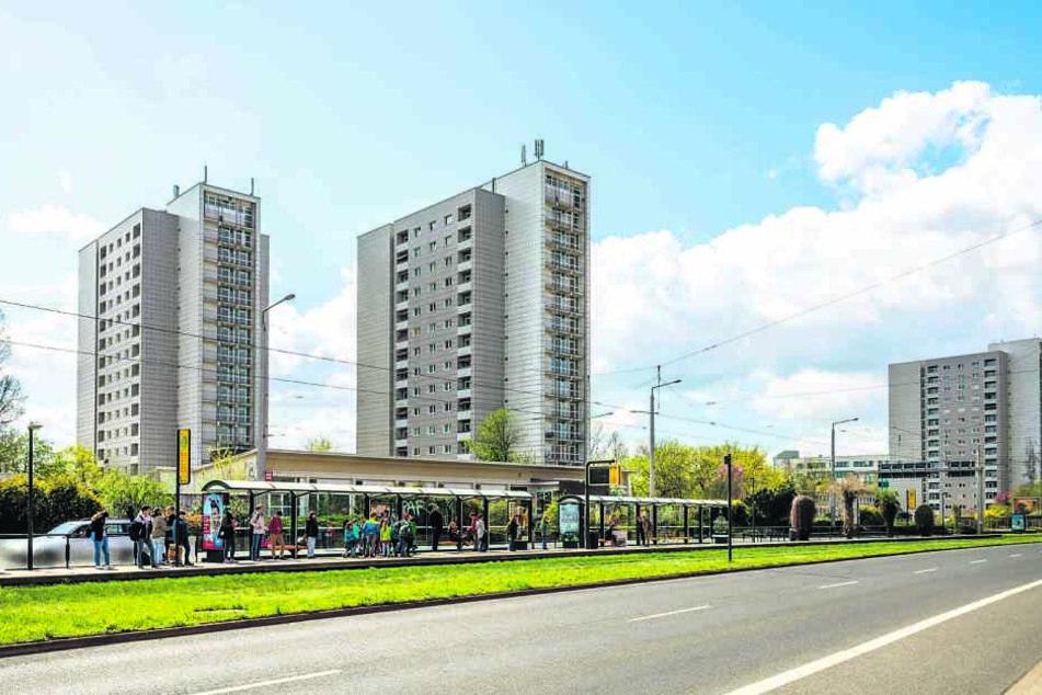 Ehemalige Woba-Wohnungen an der Grunaer Straße bieten günstigen Wohnraum.