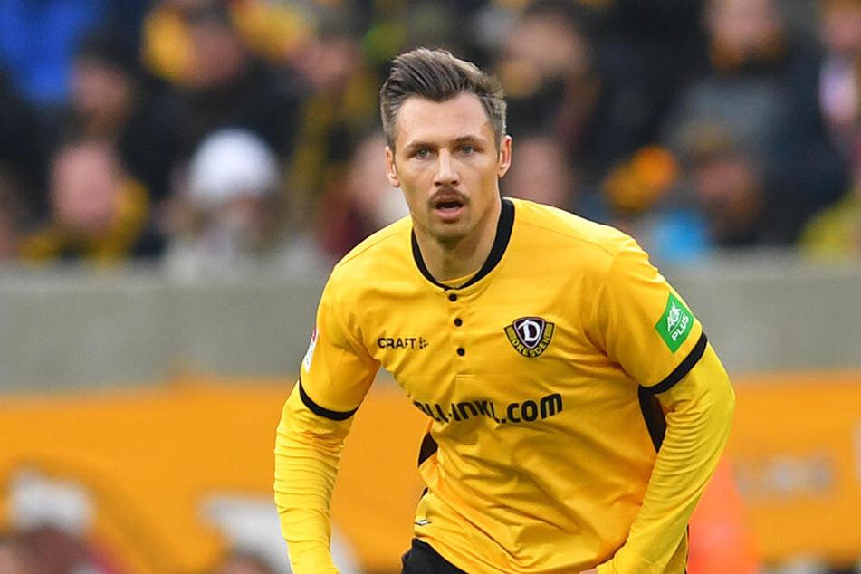 Sören Gonther spielt seine zweite Saison bei Dynamo. Auf einen erneuten Abstiegskampf hat der 32-Jährige keine Lust.