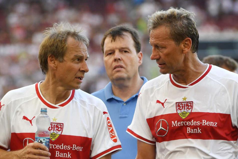 Zwei VfB-Legenden: Jürgen Klinsmann (l.) und Guido Buchwald (r.).