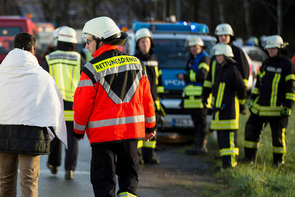 Per Rettungswagen mussten Verletzte ins Krankenhaus gebracht werden.
