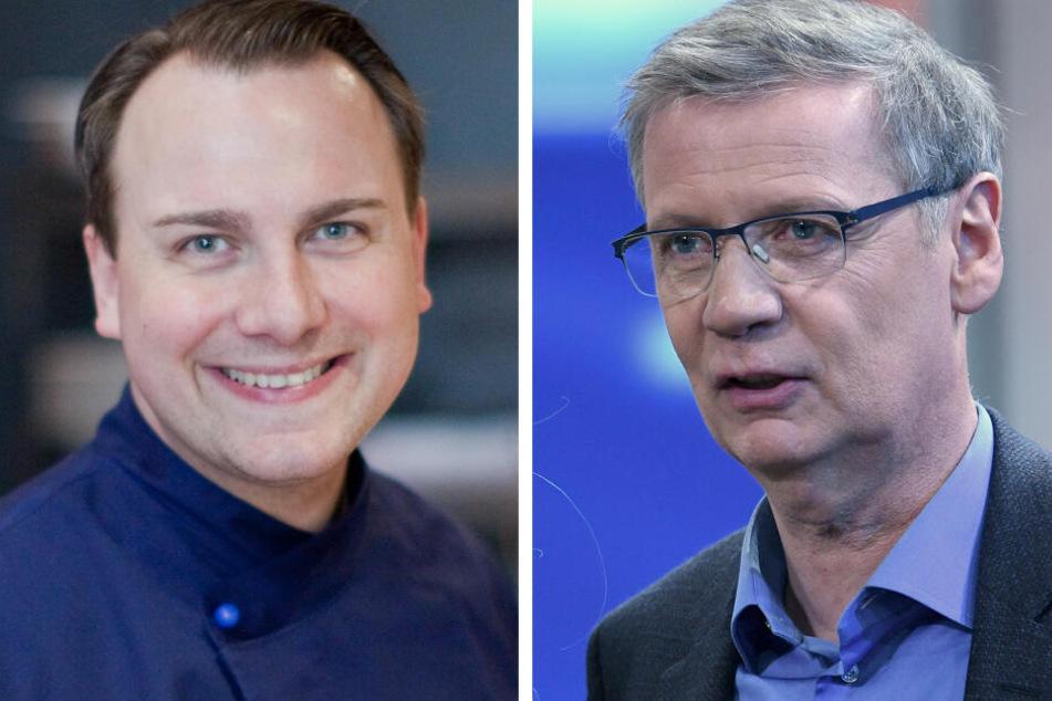 Günther Jauch (62, r.) und Tim Raue (45) eröffnen ein Restaurant in Potsdam.