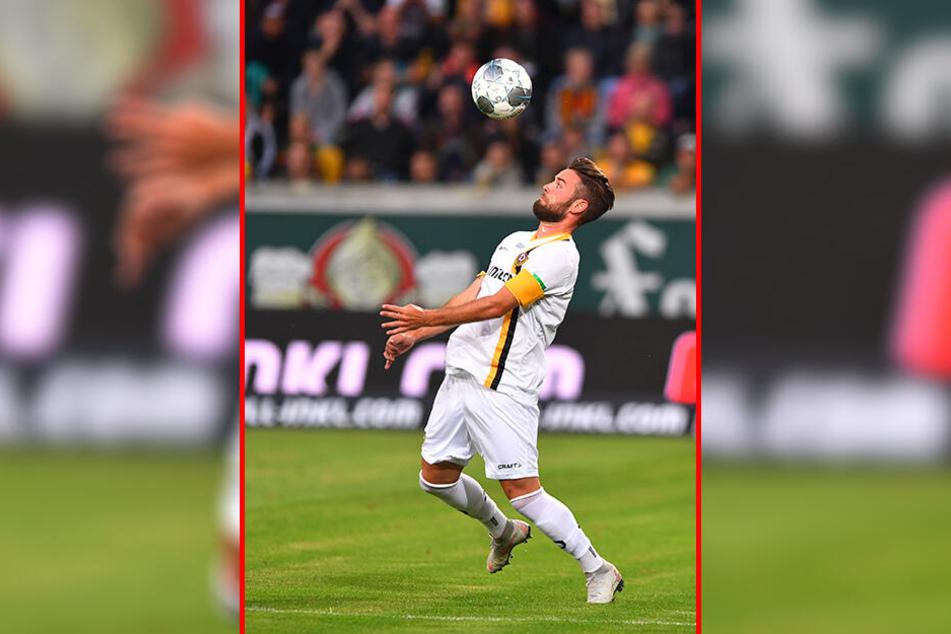Niklas Kreuzer am Ball. Schon fünf Jahre kickt der Außenverteidiger für Dynamo - und hat noch einen Vertrag für weitere drei.