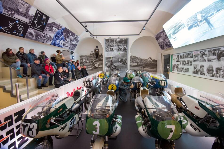 Das Motorradmuseum auf Schloss Augustusburg.