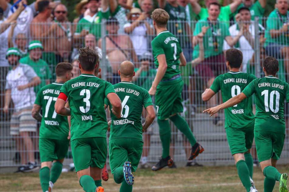 Nach dem 2:1-Erfolg in Zorbau gewann Chemie Leipzig am Sonntag auch gegen Einheit Rudolstadt mit diesem Ergebnis. (Archivbild)