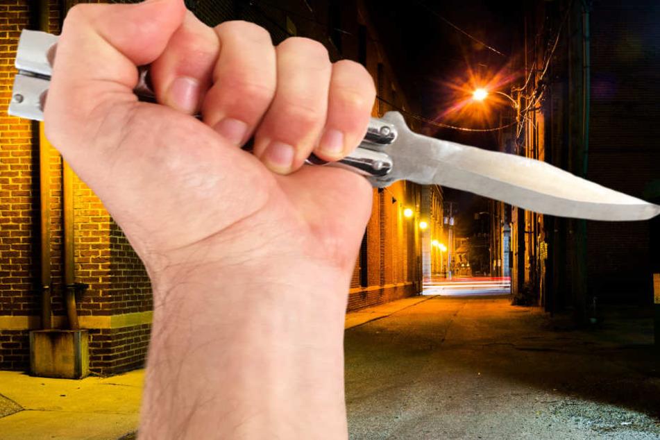 Messer in den Bauch gestoßen! Raubüberfall in Frankfurt