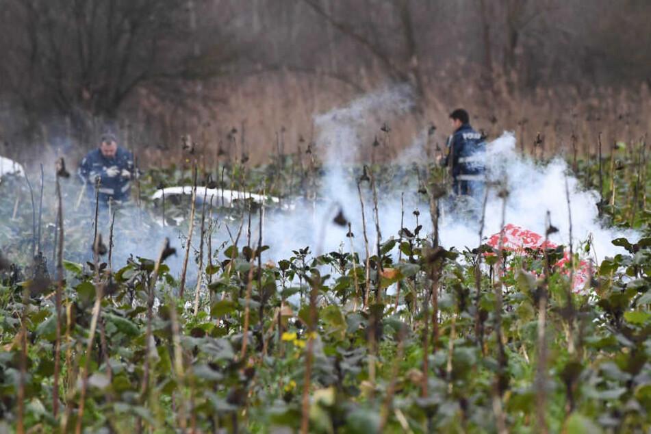 Vier Männer waren bei dem Zusammenstoß in der Luft am Dienstag ums Leben gekommen.