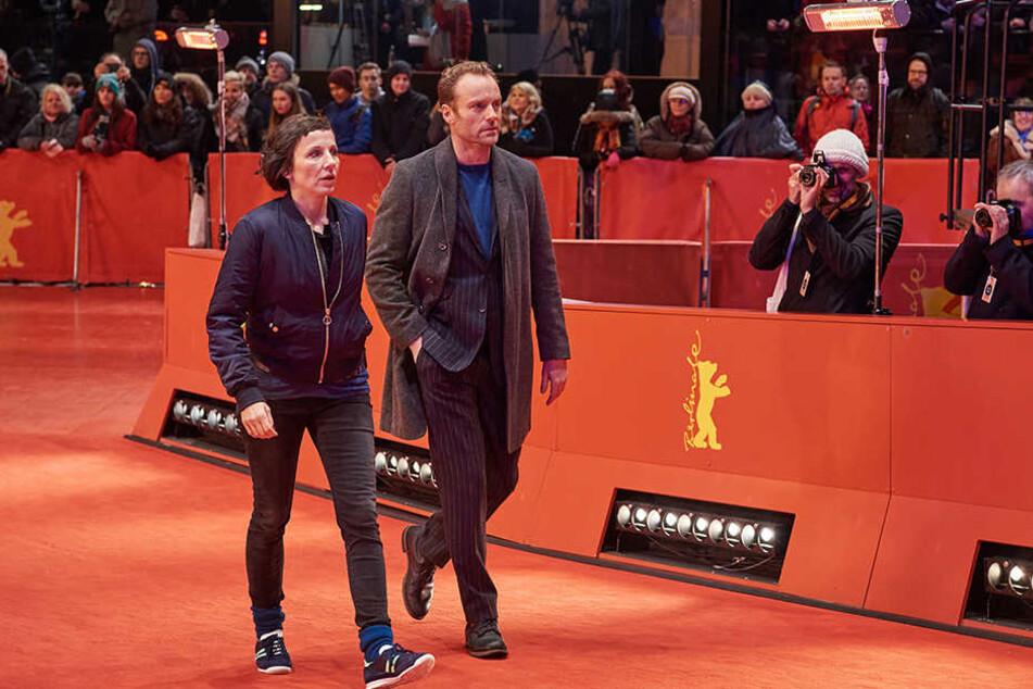 Rein dienstlich: Die beiden Kommissare auf dem roten Teppich der Berlinale.