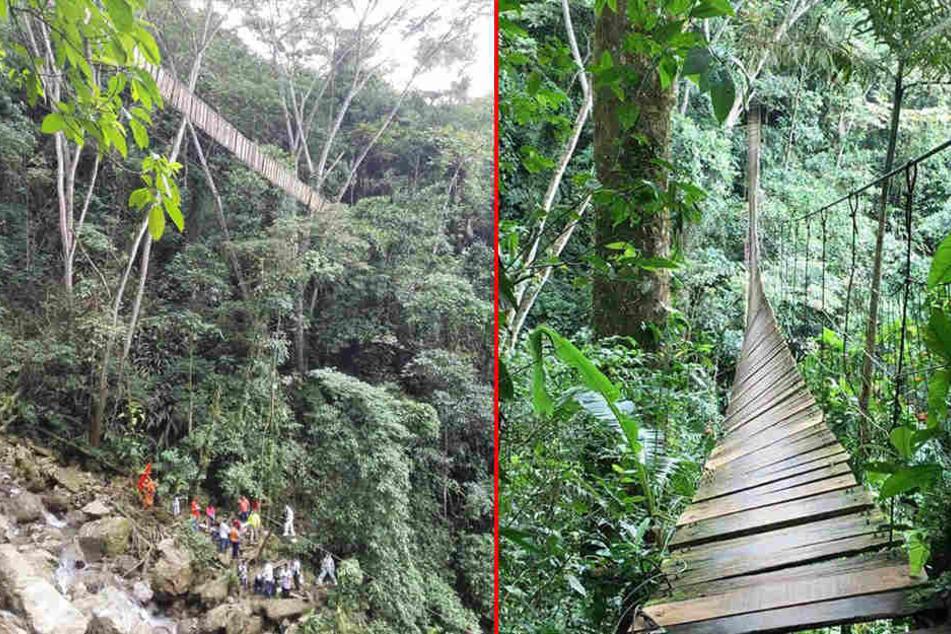 In Kolumbien sind acht Menschen bei einem Brückeneinsturz gestorben.