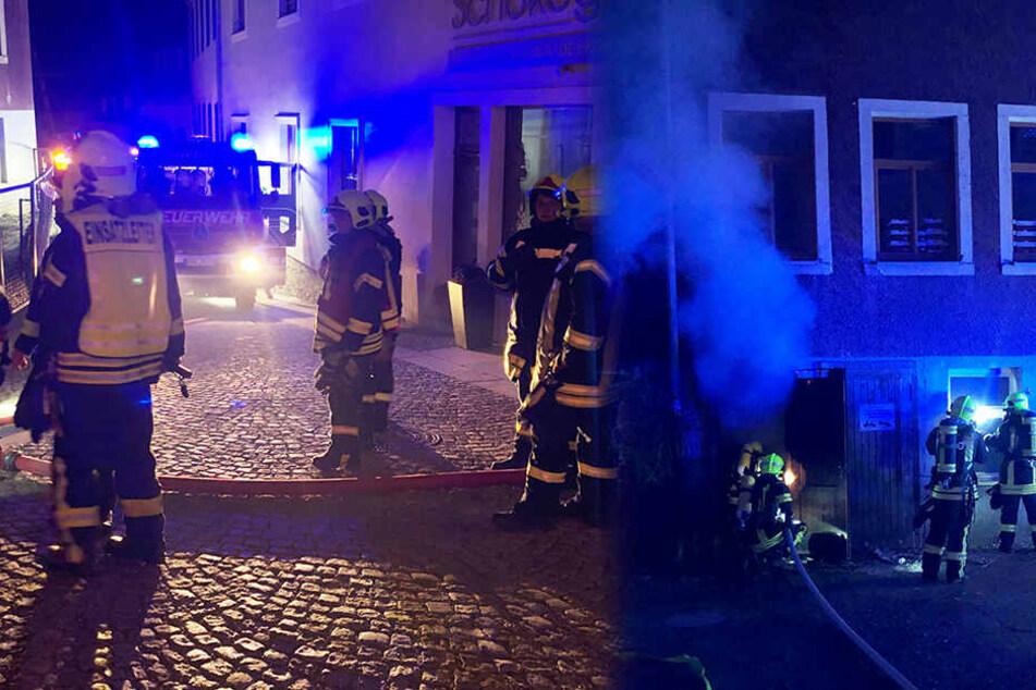 Brandstiftung? Kellerbrand in Mehrfamilienhaus
