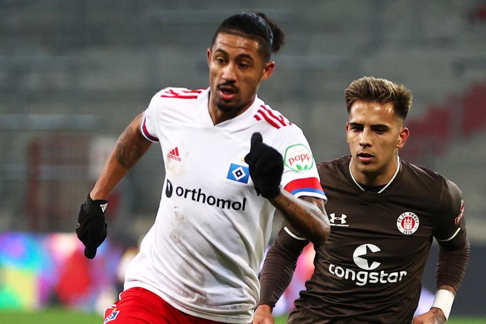 Jeremy Dudziak (25, l.) kommt im letzten HSV-Spiel der Saison nicht zum Zug.