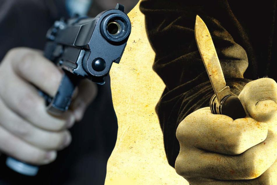 Ein Täter war mit einem Messer bewaffnet, der andere mit einer Pistole (Symbolbild).