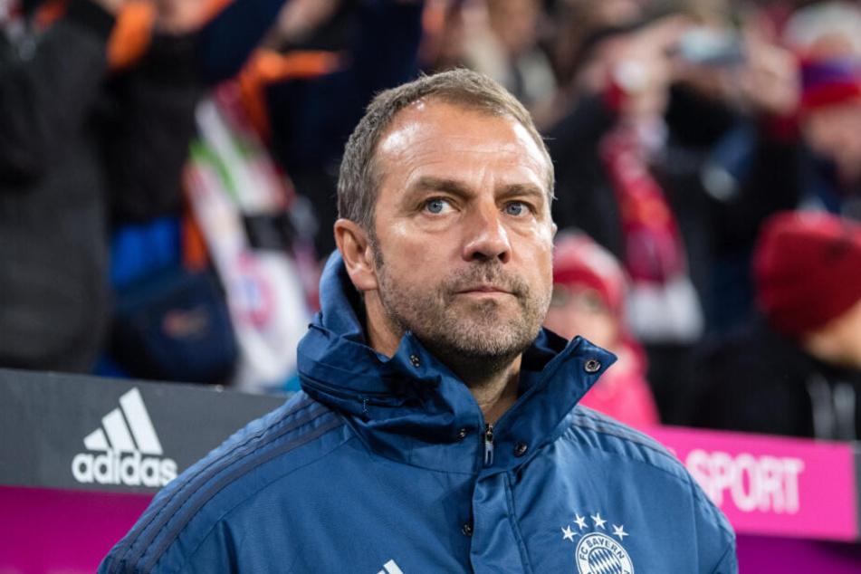 Hansi Flick hat Spaß an der Arbeit als Cheftrainer.