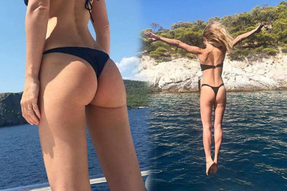 Die zweifache Mama Bar Refaeli posiert im knappen Bikini in Griechenland.