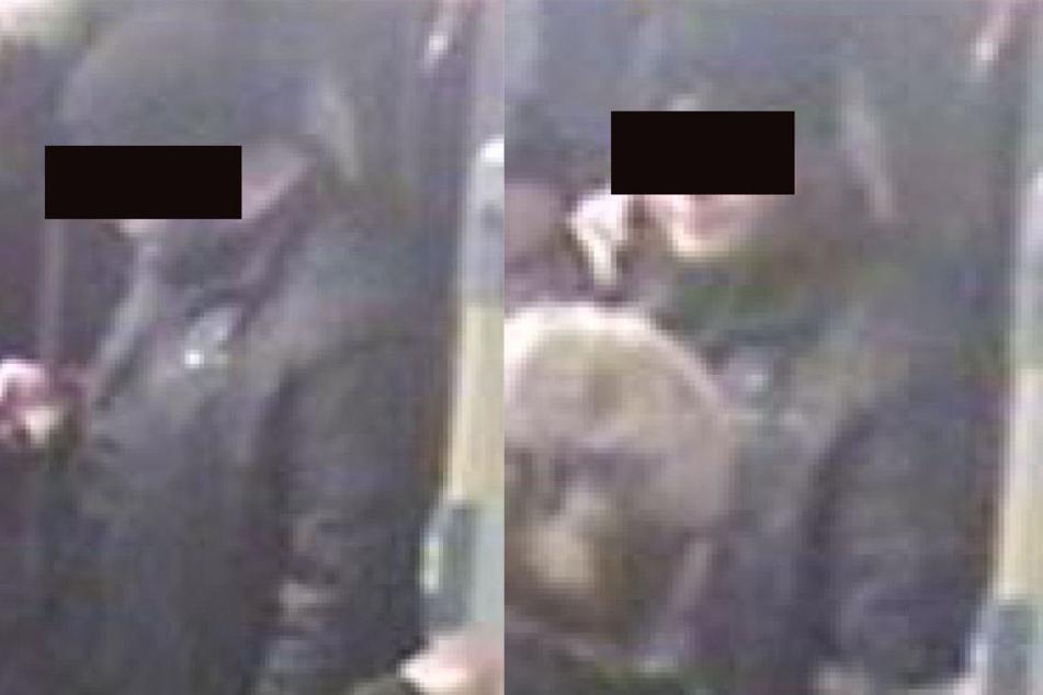 Die Polizei sucht mit diesen Bildern nach einem Unbekannten.