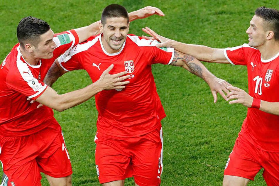 Alexsandar Mitrovic (Mitte) besorgte die Serbische Führung.