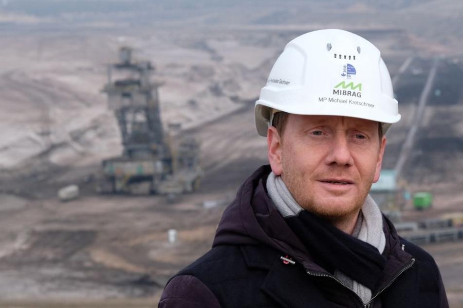 """Sachsens Ministerpräsident Michael Kretschmer sagte zum Thema Braunkohleausstieg: """"Wir brauchen noch 20 Jahre Zeit!"""""""