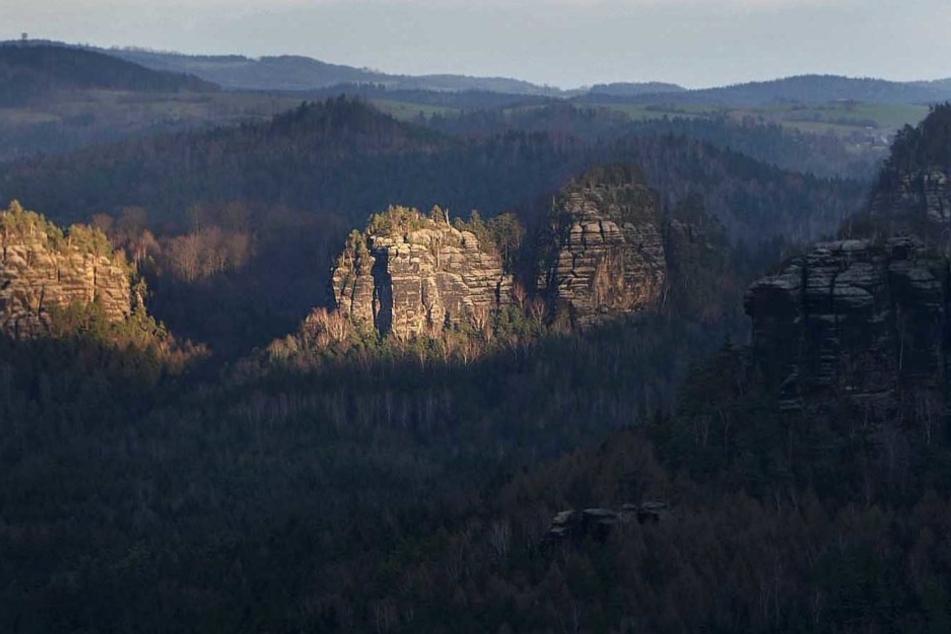 Der Kanstein im Klettergebiet Großer Zschand.