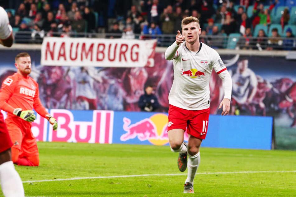 RB-Stürmer Timo Werner erzielte das 1:0 für Leipzig.