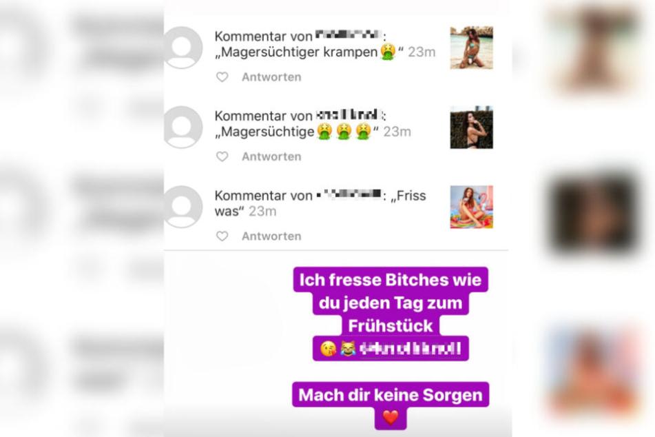 Das Bild zeigt einen Screenshot der fraglichen Instagram-Story von Anastasiya Avilova.