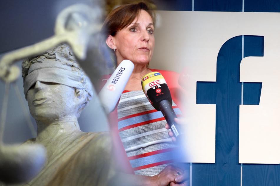 Gerichtssprecherin Annette Gabriel informiert im Berliner Kammergericht über das Urteil im juristischen Streit um das virtuelle Erbe bei Facebook eines verstorbenen minderjährigen Mädchens.