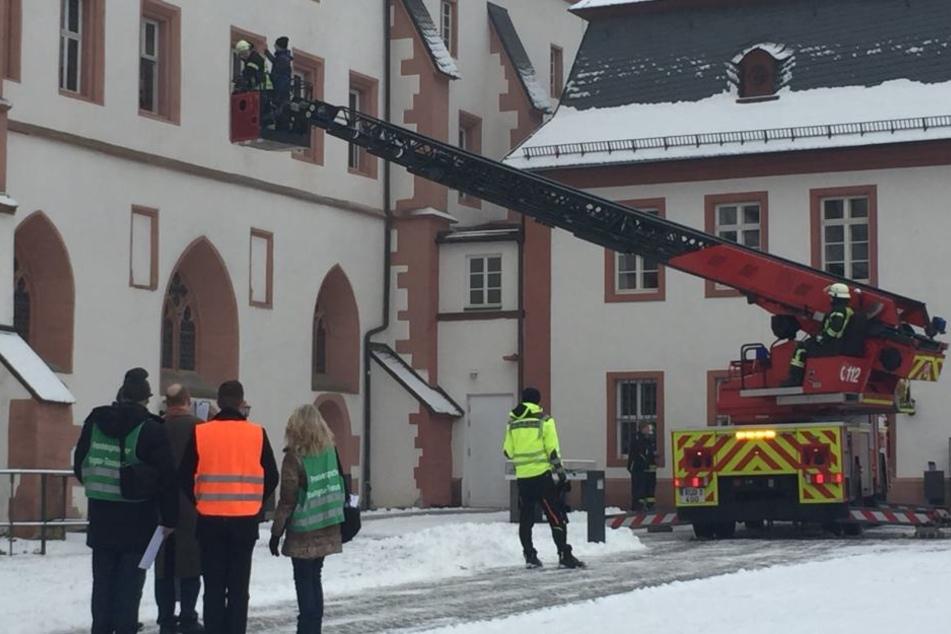 Und Action: Große Übung am Kloster Eberbach