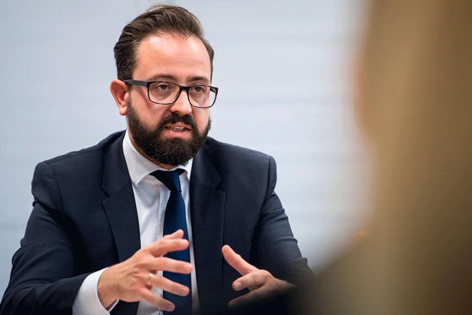 Justizminister Sebastian Gemkow (39, CDU).