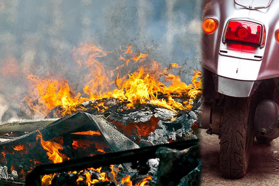 Feuer in Blasewitz! Frau stellt Moped ab, kurz darauf brennt der ganze Schuppen