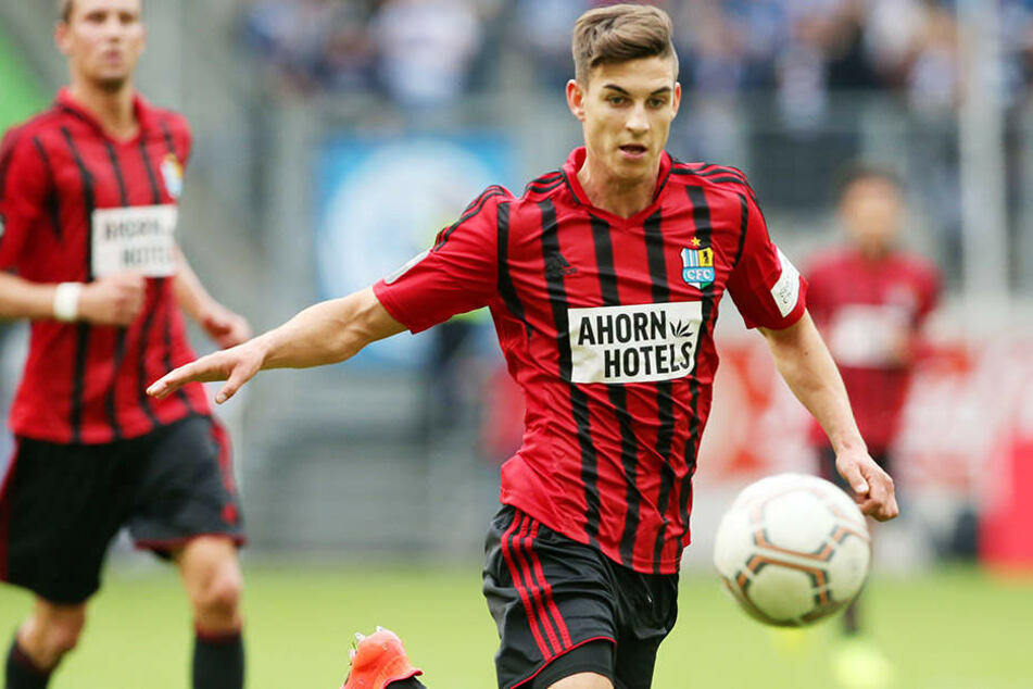 Stürmertalent Danny Breitfelder kam nur in Duisburg zum Einsatz. Dort wurde er in der 85. Minute eingewechselt.