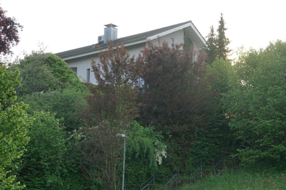 In dem Haus hinter den Bäumen und Büschen soll die Tat am Samstag passiert sein.